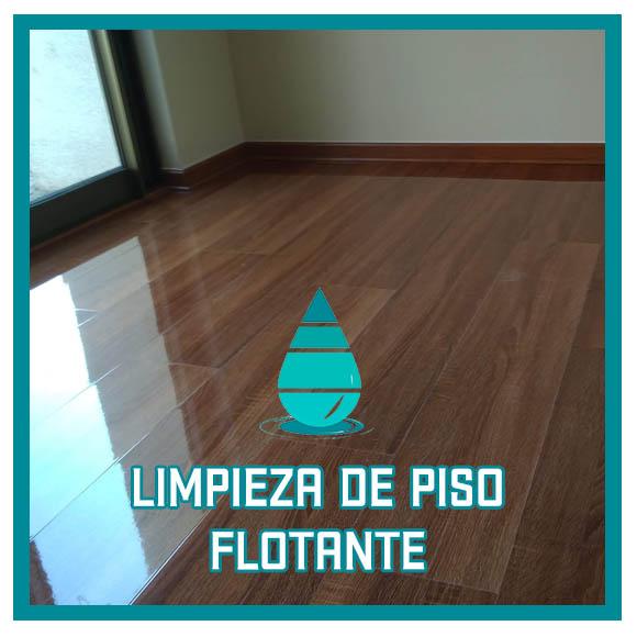 Limpieza de piso flotante