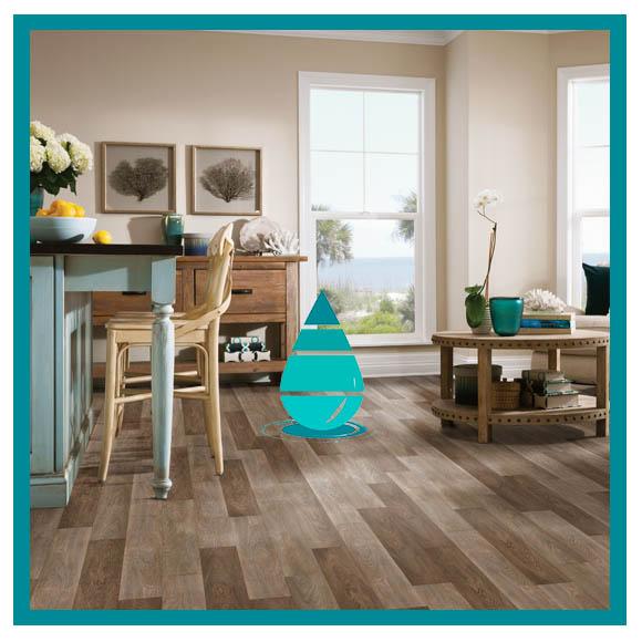 Limpieza de piso de vinilo living comedor