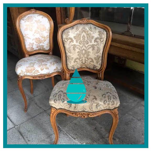 limpieza de sillas antiguas